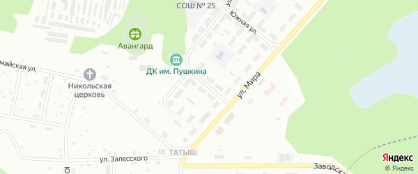 Улица Маяковского на карте Озерска с номерами домов