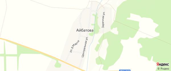 Карта деревни Айбатова в Челябинской области с улицами и номерами домов