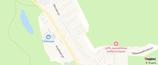 Лесной 1-й переулок на карте поселка Вишневогорска с номерами домов