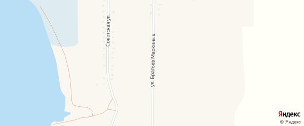 Улица Братьев Маркиных на карте Кузнецкого села с номерами домов
