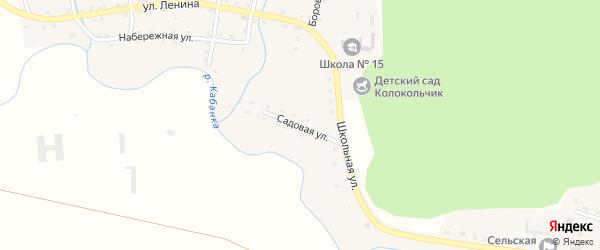 Садовая улица на карте села Демарино с номерами домов