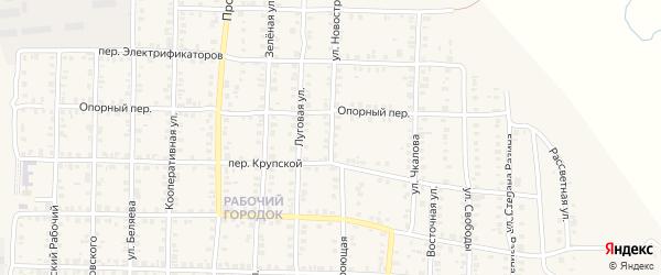 Новостроющая улица на карте Карталы с номерами домов