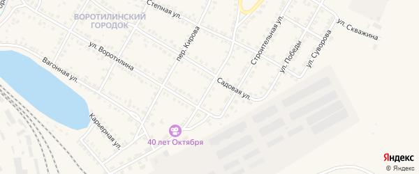 Железнодорожная улица на карте Карталы с номерами домов