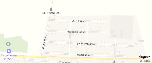 Молодежная улица на карте села Чесмы с номерами домов