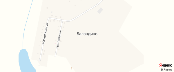 Набережная улица на карте деревни Баландино с номерами домов