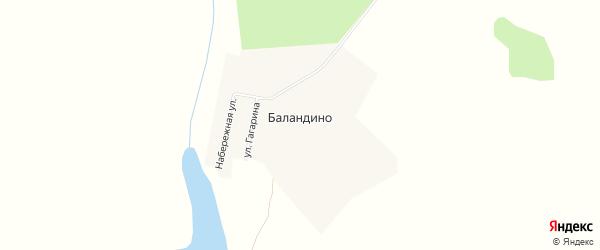 Карта деревни Баландино в Челябинской области с улицами и номерами домов