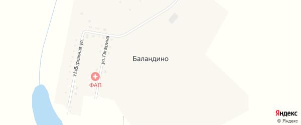 Улица Гагарина на карте деревни Баландино с номерами домов