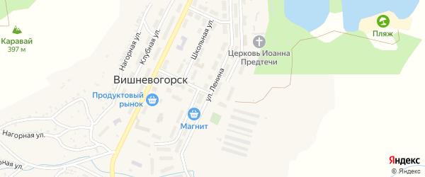 Улица Ленина на карте поселка Вишневогорска с номерами домов