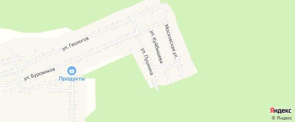 Улица Пушкина на карте поселка Вишневогорска с номерами домов