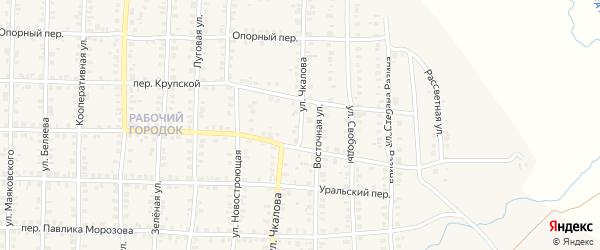 Улица Чкалова на карте Карталы с номерами домов