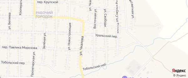 Восточная улица на карте Карталы с номерами домов