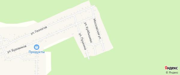Улица Куйбышева на карте поселка Вишневогорска с номерами домов