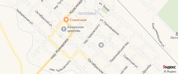 Переулок Чайковского на карте Карталы с номерами домов