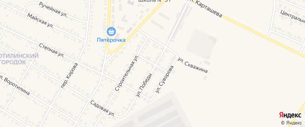 Полевой переулок на карте Карталы с номерами домов