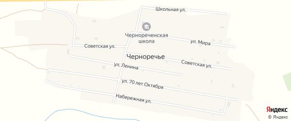 Улица Мира на карте поселка Черноречье с номерами домов