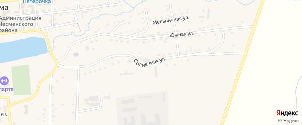 Солнечная улица на карте села Чесмы с номерами домов