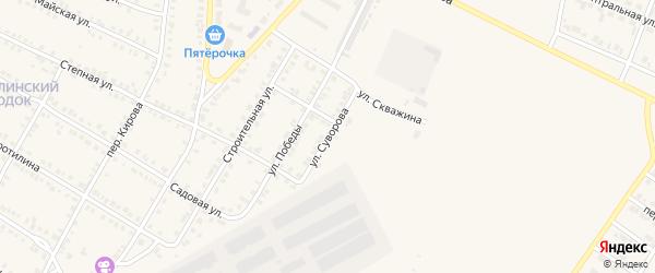 Улица Суворова на карте Карталы с номерами домов