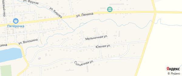 Мельничная улица на карте села Чесмы с номерами домов