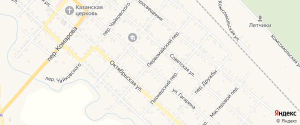 Первомайский переулок на карте Карталы с номерами домов