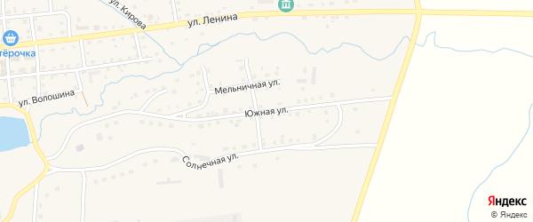 Южная улица на карте села Чесмы с номерами домов