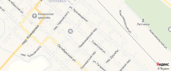 Советская улица на карте Карталы с номерами домов