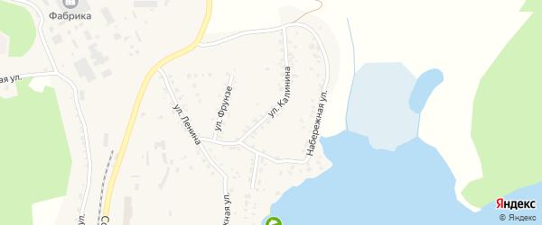 Улица Калинина на карте поселка Вишневогорска с номерами домов