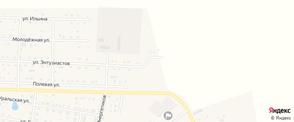 Степная улица на карте села Чесмы с номерами домов