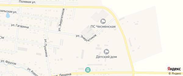 Улица Энергетиков на карте села Чесмы с номерами домов