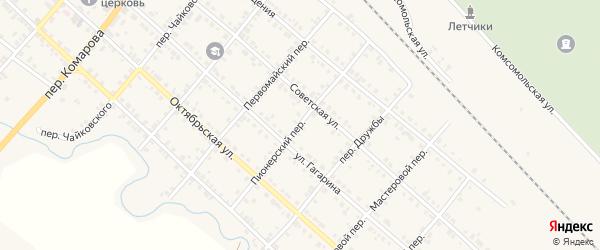 Пионерский переулок на карте Карталы с номерами домов