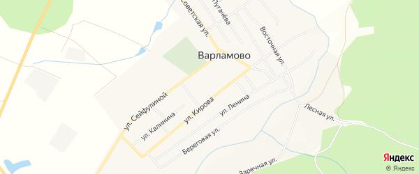 Карта села Варламово в Челябинской области с улицами и номерами домов