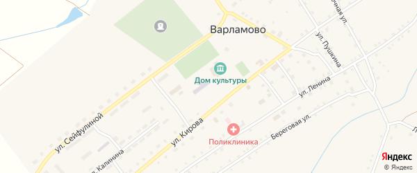 Улица Пушкина на карте села Варламово с номерами домов