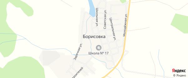 Карта села Борисовки в Челябинской области с улицами и номерами домов