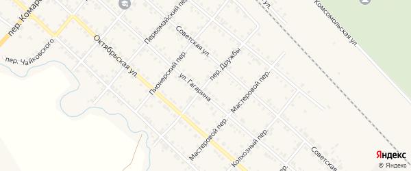 Переулок Дружбы на карте Карталы с номерами домов