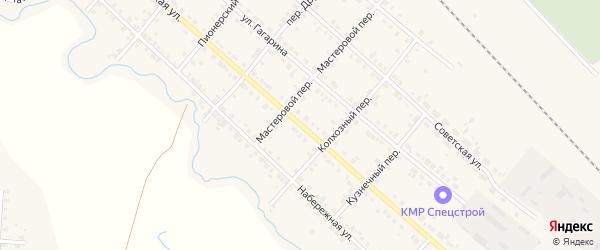 Октябрьская улица на карте Карталы с номерами домов
