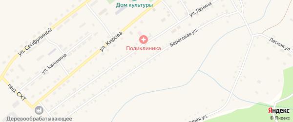 Береговая улица на карте села Варламово с номерами домов