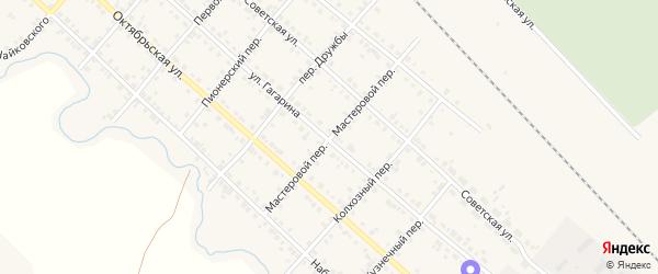 Мастеровой переулок на карте Карталы с номерами домов