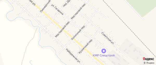 Колхозный переулок на карте Карталы с номерами домов