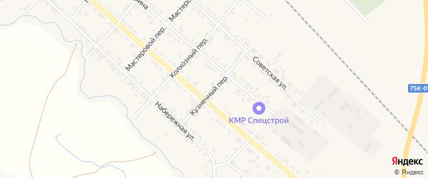 Кузнечный переулок на карте Карталы с номерами домов