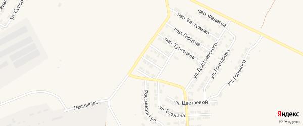 Переулок Михайловского на карте Карталы с номерами домов
