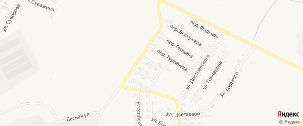 Переулок Рылеева на карте Карталы с номерами домов