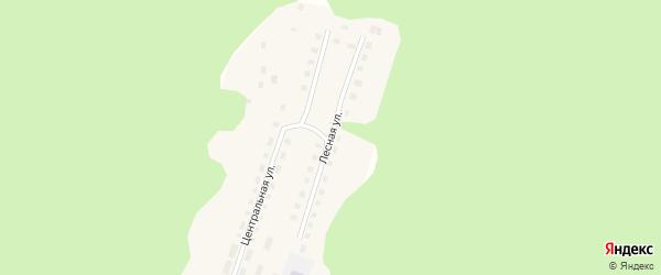 Лесная улица на карте села Демарино (центральной усадьба) с номерами домов