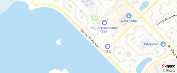 Бульвар Гайдара на карте Озерска с номерами домов