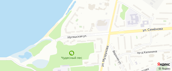 Иртяшская улица на карте Озерска с номерами домов