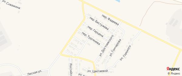 Переулок Тургенева на карте Карталы с номерами домов