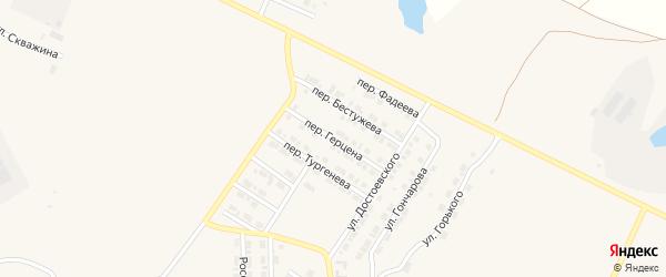 Переулок Герцена на карте Карталы с номерами домов
