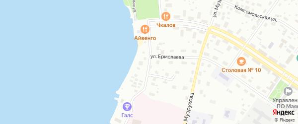 Улица Архипова на карте Озерска с номерами домов