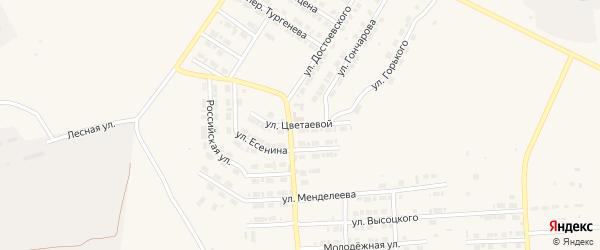Улица Цветаевой на карте Карталы с номерами домов