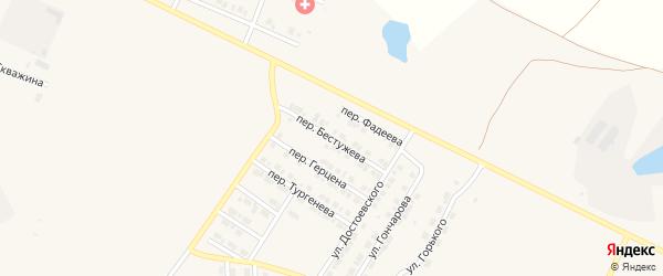 Переулок Бестужева на карте Карталы с номерами домов