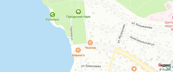 Парковая улица на карте Озерска с номерами домов