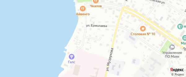 Парковый переулок на карте Озерска с номерами домов
